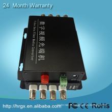 HongRui preço de fábrica de 4 canais de vídeo 1550nm catv transmissor óptico de vídeo para wi-fi conversor