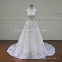 XF16049A molina vraie dentelle deux pièces robes de mariée 2017