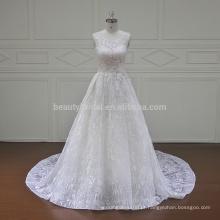 XF16049A molina real laço dois pedaços de vestidos de noiva 2017