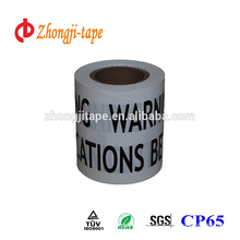 good elongation non detectable underground warning tape