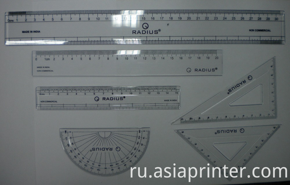 Automatic Plastic Rulers Stationery UV Flat Screen Printer