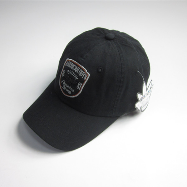 Mens Black Patch sport berretto con Badge