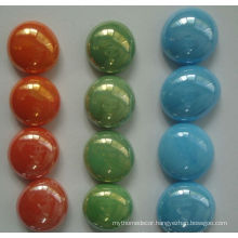 Porcelain flat glass marbles