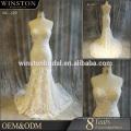 China-Kleid-Herstellerspitze kurzes Hochzeitskleid langer Zug