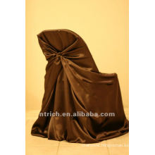 self-tie back chair cover,CT337 satin chair cover,universal chair cover