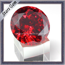 High Quality China Red Brilliant Cut Cubic Zirconia