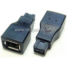 Firewire 1394 9P male to 6P female adaptor
