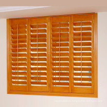 PVC or Basswood Window Shutter Blinds with 63 and 89mm louver