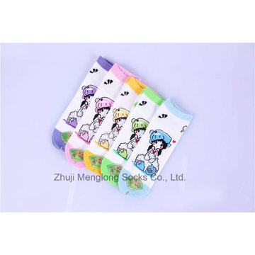 Cartoon Little Girl Lovely Cotton Socks Cute Designs Very Popular in The Market