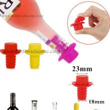 Kundengebundener Glaswein-Flaschen-Nahrungsmittelgrad-Silikon-Gummistopfen-Stopper