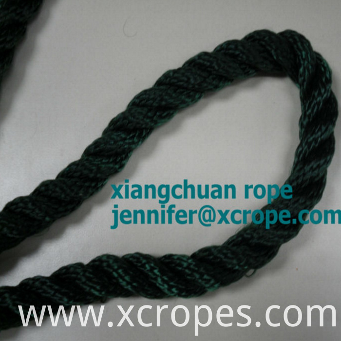 3 strands Olive Green PP Multifilament rope