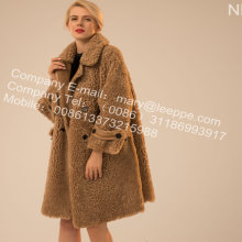 Iceland Lamb Fur Outward Coat For Lady