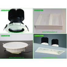 Square COB LED Downlight 30W, Dimmable LED Down Light