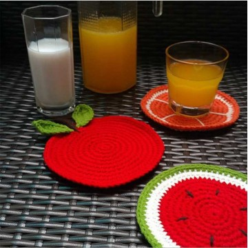 Hot sale New handmade circular insulation coaster cotton crochet placemat coaster