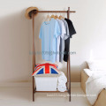 Wooden Coat Stand Clothes Hanging Garment Rack with Storage Shelf Hallway Organiser