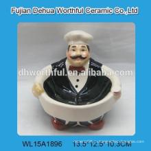 2016 популярная керамическая сладкая тарелка в форме шеф-повара