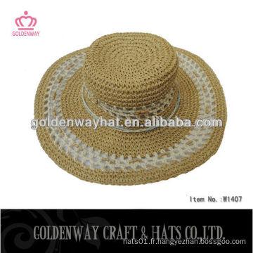 Femme en tissu chapeau de paille 100