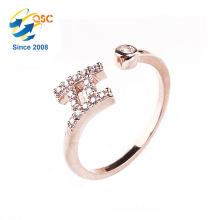 AAA-Ebene Zirkonia Diamanten Großhandel Schmuck zwölf Konstellationen Glück Zwillinge Ring