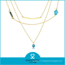 Chaînes de bijoux de perle en métal européen de vente chaude (N-0295)