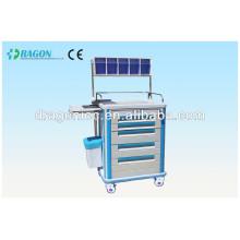 DW-AC218 hôpital linge chariots chariot médical chariot d'hôpital en acier inoxydable chariot chariot pour vente chaude