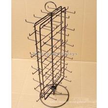 Multifunktions-Einzelhandelsgeschäfte Tischplatte Top 2-seitig Metalldraht 30 Haken Spinner Display Stand