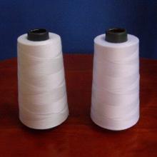 Linha de costura de poliéster branco cru / fio