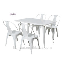 Iron frame plastic folding table and chair
