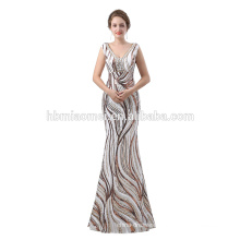 2018 long design custom made floor length sequins elegant evening dress