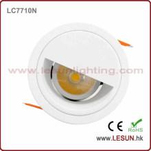 Alto lumen 8W corte agujero 90mm LED COB abajo iluminación LC7710n