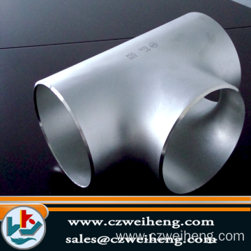Customized for Galvanized Steel Tee stainless steel TP316L equal tee supply to Samoa Exporter