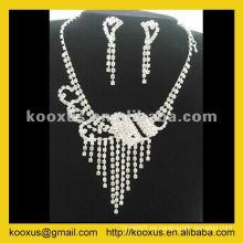 Conjunto de collar de boda de moda