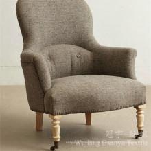 Tejido de lino de tapicería Look Fabric 100% poliéster para sofá