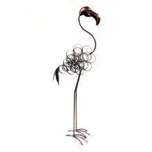 Rusty Flamingo Metal Animal Home and Garden Decoration