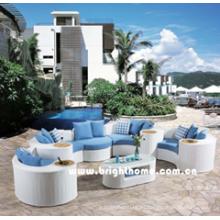Sofá Seccional de Color Blanco Muebles de Jardín Exterior Bp-873A
