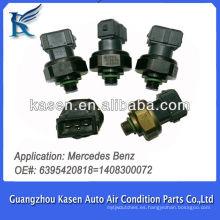 Sensor de presión del aire acondicionado sensor Transductor Pressostato para Mercedes Benz 6395420818 1408300072
