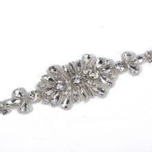 Long trims crystal applique belt sash wedding dress for bridal RH1008
