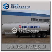 3 essieux 35000L-60000L Semi-remorque à réservoir d'huile (pour le transport d'essence, carburant, huile, liquide chimique)