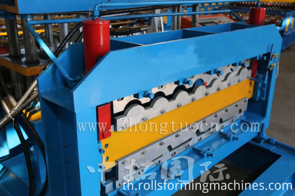 Double Layer for Glazed and Trapezoidal Roof Tile Machine 02