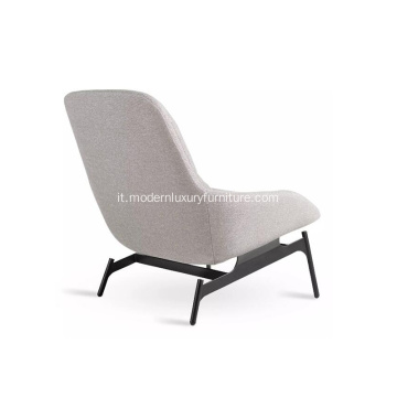 Chaise longue in tessuto in stile moderno