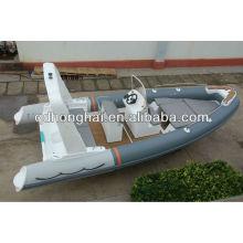 bateau en fibre de verre bateau de pêche de côtes 6,8 compteur vitesse gonflable rigide
