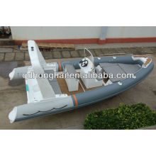 fiberglass boat RIB 6.8 meter rigid inflatable speed fishing boat