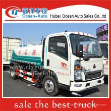 SINOTRUK HOWO 4000liter 4X2 kleiner Wassertanker zum Verkauf