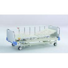 Cama de hospital manual de três funções com placa de cabeça / pé de ABS