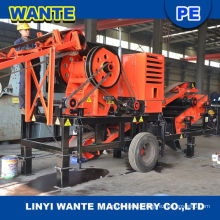 Easy handling movable rock crusher