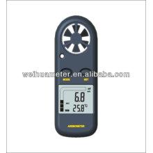 Anemómetro Anemómetro de mano Mini anemómetro de bolsillo Anemómetro con pantalla de grado DA816 (WH816)