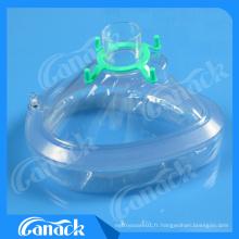 Masque de visage d'anesthésie de PVC avec Ce ISO