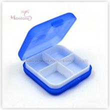 4 Grids Pill Box, Kunststoff Pill Box, blaue Pill Box