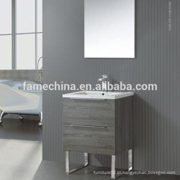 Gabinete de banheiro de MDF com piso de estilo europeu