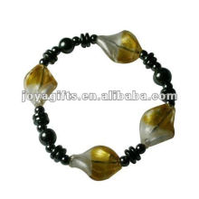 Fashion Hematite Lampwork Beaded Bracelet