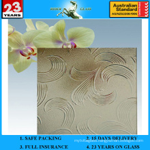 3-8mm Bronze Mayflower Patterned Glass with AS/NZS2208: 1996